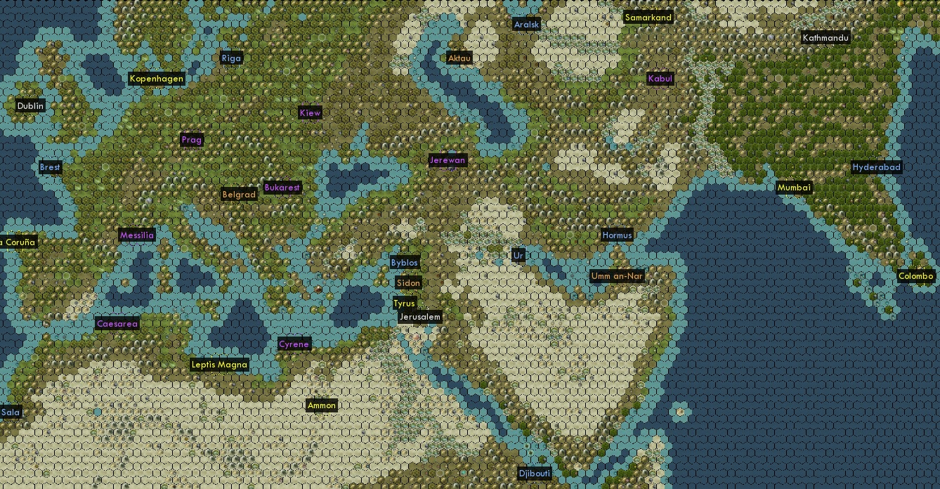 Avalon Hills Civilization Map Project – Civ 5 World Map