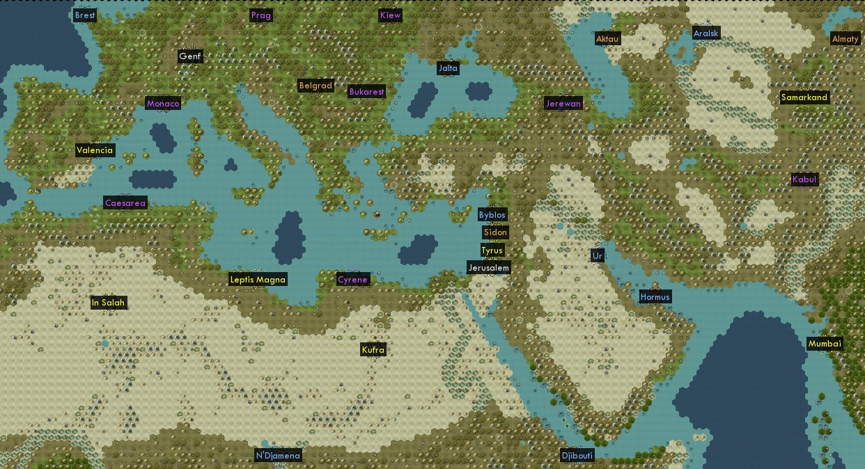 Extended Europe 22 Civs TSL – Civ 5 World Map